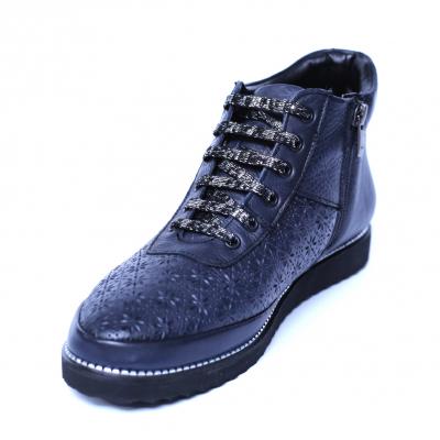 Pantofi dama din piele naturala, Row, Relin, Albastru, 37 EU [0]