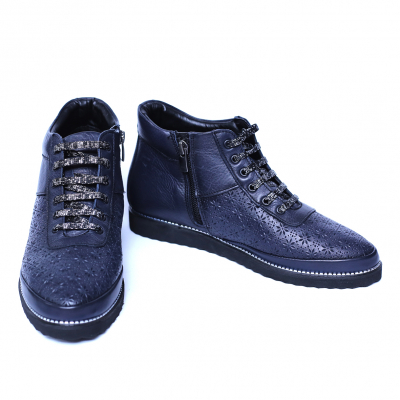 Pantofi dama din piele naturala, Row, Relin, Albastru, 37 EU [1]