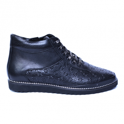 Pantofi dama din piele naturala, Row, Relin, Negru, 40 EU [2]