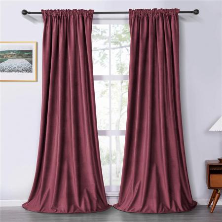Set draperii soft cu rejansa din bumbac cu 4 ate tip fagure, Super, 200x210 cm, densitate 200 g/mp, Roz, 2 buc [0]