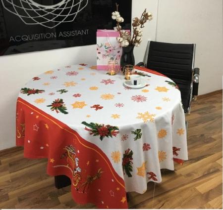 Fata de masa pentru 4 persoane, Jesse, bumbac 100%, 150x150cm, multicolor [1]