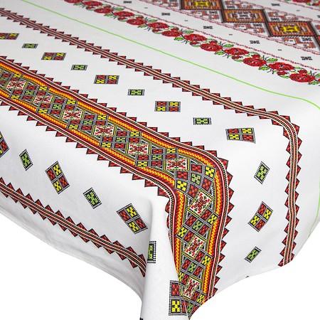 Fata de masa pentru 4 persoane,  Motiv traditional, bumbac 100%, 150x150cm, multicolor0