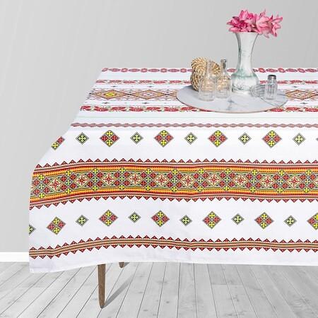 Fata de masa pentru 4 persoane,  Motiv traditional, bumbac 100%, 150x150cm, multicolor1