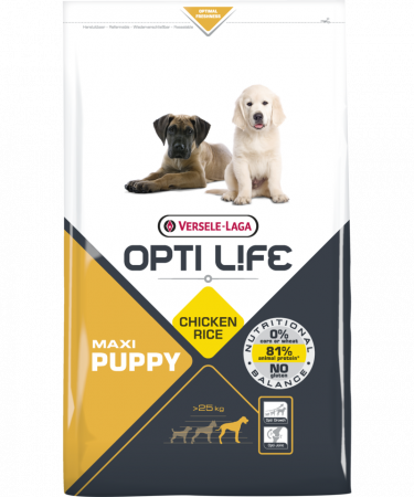 Hrana uscata pentru caini, Opti Life, Maxi Puppy, Versele-Laga, 12.5 kg0