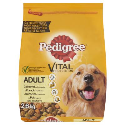 Hrana uscata pentru caini, Pedigree Adult, Pui si Legume, 2.6 Kg [0]