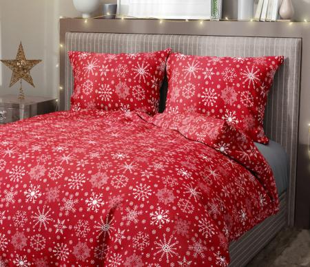 Lenjerie de pat pentru o persoana cu husa elastic pat si fata perna dreptunghiulara, Maya, bumbac satinat, gramaj tesatura 120 g/mp, multicolor [1]