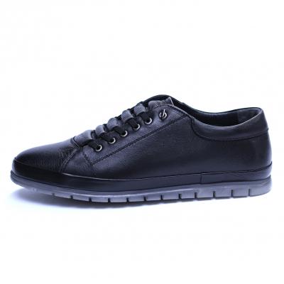 Pantofi barbati din piele naturala, Snk, Goretti, Negru, 39 EU [0]