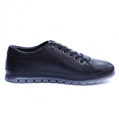 Pantofi barbati din piele naturala, Snk, Goretti, Negru, 39 EU [1]