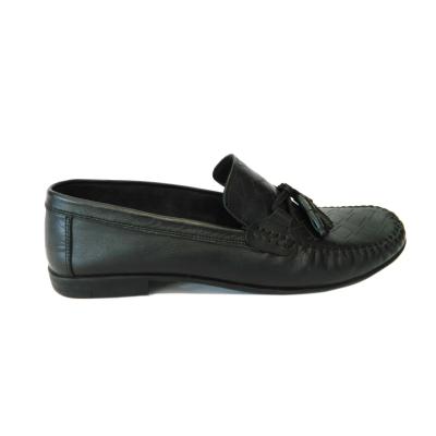 Pantofi pentru barbati din piele naturala, 70s, Goretti, Negru, 40 EU0