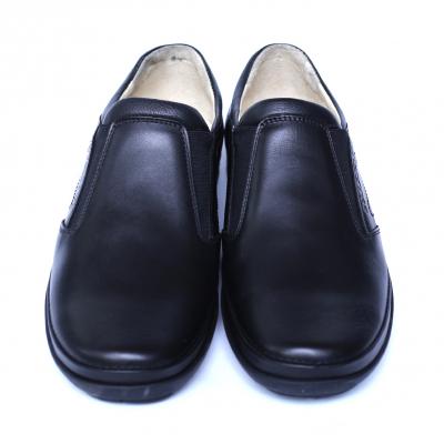 Pantofi barbati din piele naturala, Relax, Gitanos, Negru, 39 EU1