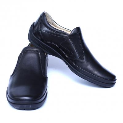 Pantofi barbati din piele naturala, Relax, Gitanos, Negru, 39 EU2
