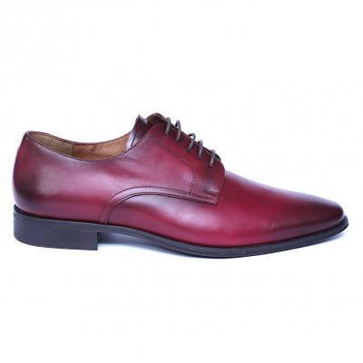 Pantofi eleganti barbati din piele naturala, Solari, DENIS, Bordeaux, 39 EU3