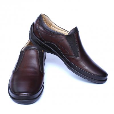 Pantofi barbati din piele naturala, Relax, Gitanos, Maro, 39 EU2