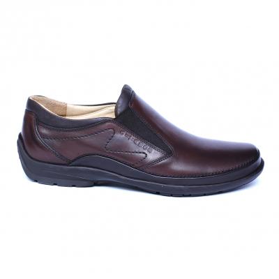 Pantofi barbati din piele naturala, Relax, Gitanos, Maro, 39 EU3