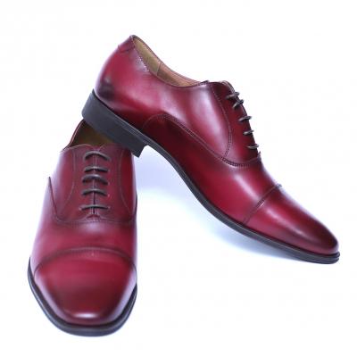 Pantofi barbati din piele naturala, Solari 2, DENIS, Bordeaux, 39 EU2