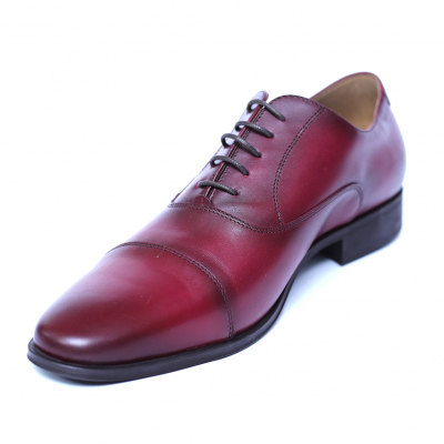 Pantofi barbati din piele naturala, Solari 2, DENIS, Bordeaux, 39 EU0