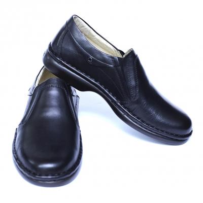 Pantofi barbati din piele naturala, Zen, Gitanos, Negru, 39 EU [2]