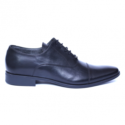 Pantofi barbati din piele naturala, Solari 2, DENIS, Negru, 39 EU [0]
