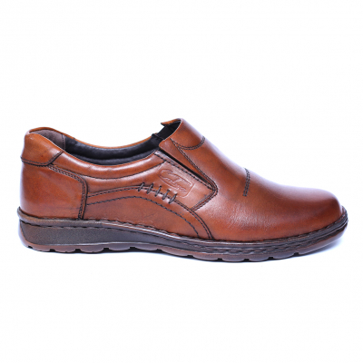 Pantofi barbati din piele naturala, Zento, Cobra, Maro, 39 EU0