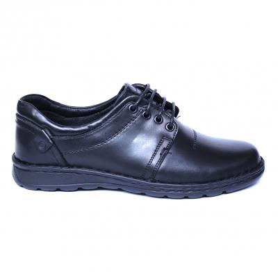 Pantofi barbati din piele naturala, Eddie, Cobra, Negru, 39 EU3