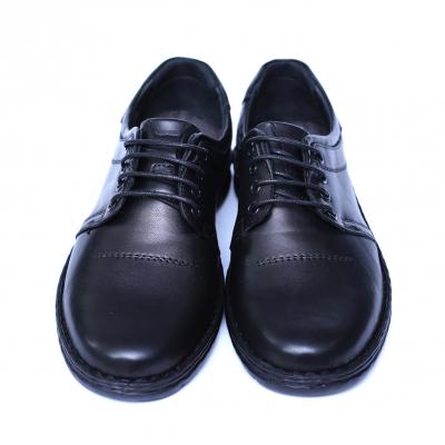 Pantofi barbati din piele naturala, Eddie, Cobra, Negru, 39 EU1
