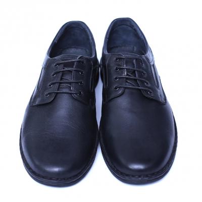 Pantofi barbati din piele naturala, Bruce, Cobra, Negru, 39 EU [1]