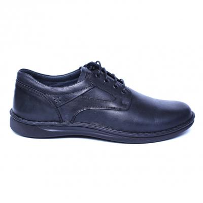 Pantofi barbati din piele naturala, Bruce, Cobra, Negru, 39 EU [3]