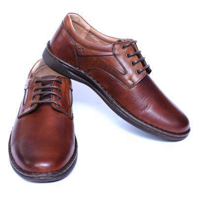 Pantofi barbati din piele naturala, Bruce, Cobra, Maro, 39 EU2