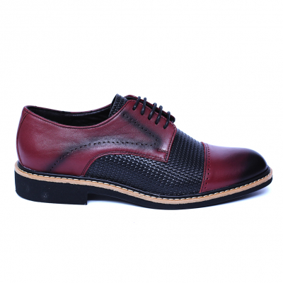 Pantofi barbati din piele naturala, Elvis, Relin, Bordeaux, 39 EU [3]