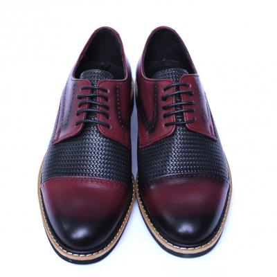 Pantofi barbati din piele naturala, Elvis, Relin, Bordeaux, 39 EU [1]