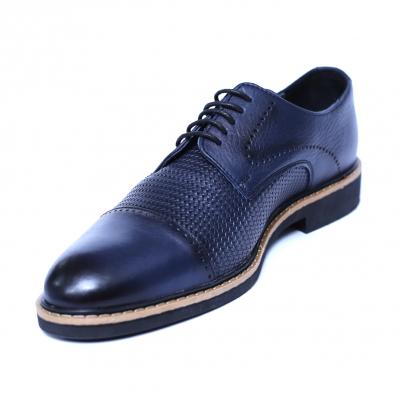 Pantofi barbati din piele naturala, Elvis, Relin, Albastru, 39 EU [0]