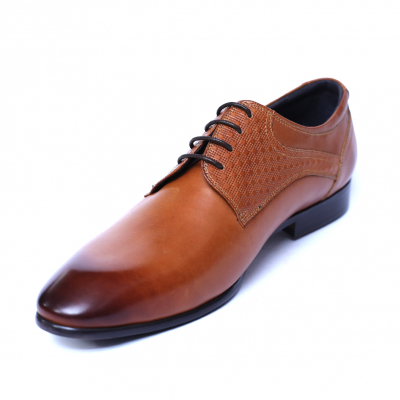 Pantofi barbati din piele naturala, Nero, SACCIO, Maro, 39 EU [0]
