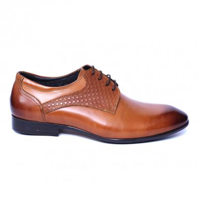 Pantofi barbati din piele naturala, Nero, SACCIO, Maro, 39 EU [3]