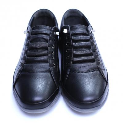 Pantofi barbati din piele naturala, Snk, Goretti, Negru, 39 EU [2]