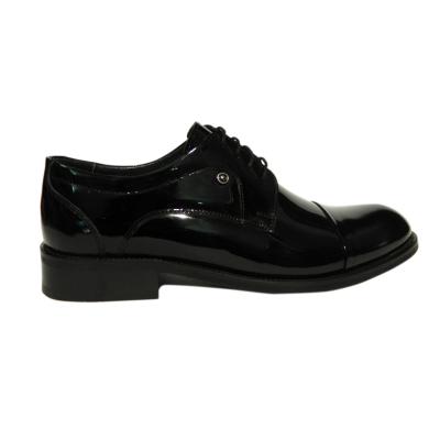 Pantofi eleganti pentru barbati Buzz, piele naturala, Gitanos, Negru lac, 39 EU0