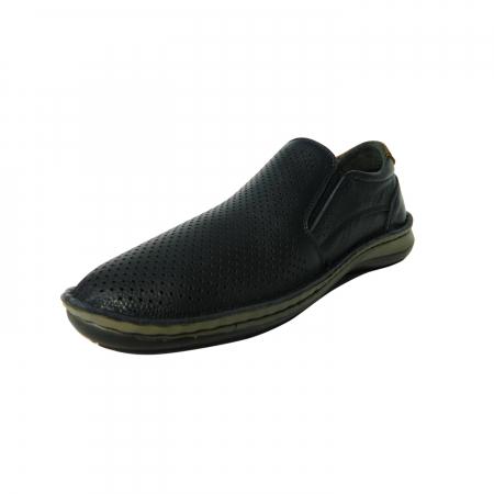 Pantofi casual pentru barbati din piele naturala, Florida, Dr. Jells, Albastru, 41 EU1