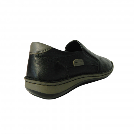 Pantofi casual pentru barbati din piele naturala, Florida, Dr. Jells, Negru, 43 EU [1]