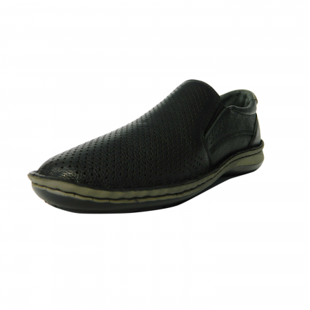 Pantofi casual pentru barbati din piele naturala, Florida, Dr. Jells, Negru, 43 EU [2]