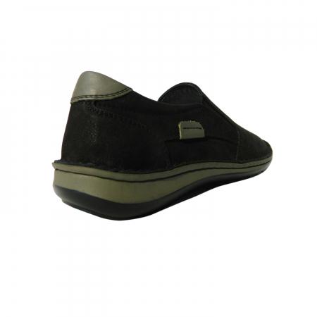 Pantofi casual pentru barbati din piele naturala, Florida, Dr. Jells, Negru nabuc, 43 EU1