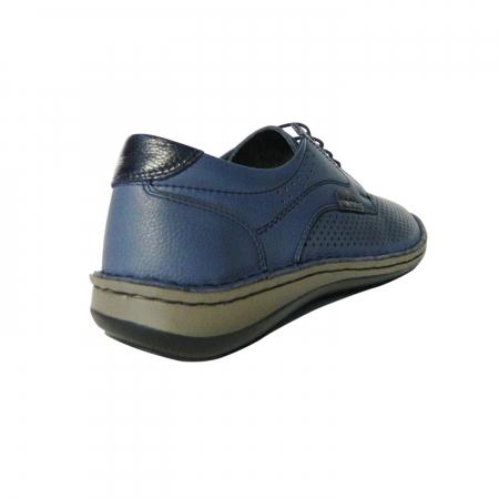 Pantofi casual pentru barbati din piele naturala, Safari, Dr. Jells, Albastru, 44 EU [1]