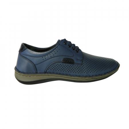 Pantofi casual pentru barbati din piele naturala, Safari, Dr. Jells, Albastru, 44 EU [0]