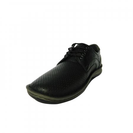 Pantofi casual pentru barbati din piele naturala, Safari, Dr. Jells, Negru, 40 EU2