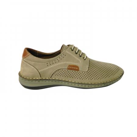 Pantofi casual pentru barbati din piele naturala, Sane, Dr. Jells, Crem, 42 EU [0]