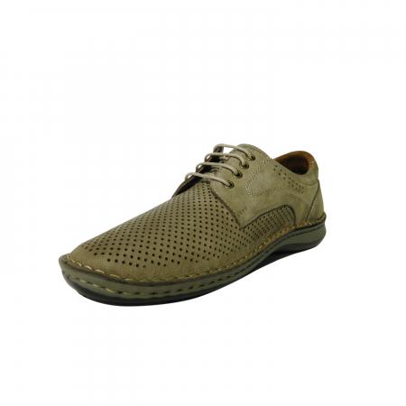 Pantofi casual pentru barbati din piele naturala, Sane, Dr. Jells, Crem, 42 EU [2]