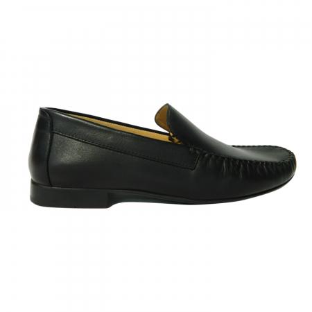 Pantofi casual pentru barbati din piele naturala, Severio, Gitanos, Negru, 43 EU0