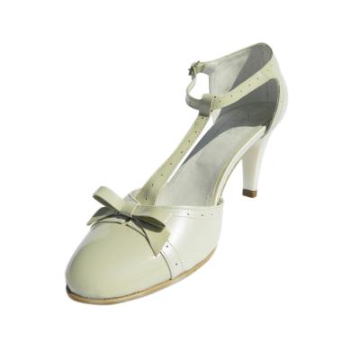 Pantofi dama cu funda Monne, piele naturala, Nist, Bej, 35 EU0