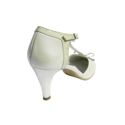 Pantofi dama cu funda Monne, piele naturala, Nist, Bej, 35 EU1