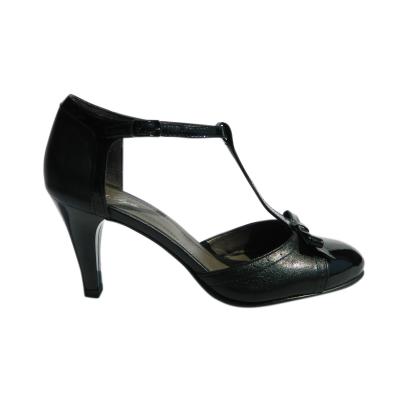 Pantofi dama cu funda Monne, piele naturala, Nist, Negru, 35 EU [2]