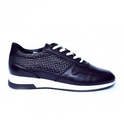 Pantofi dama din piele naturala cu model, Naty, Peter, Negru, 35 EU [0]