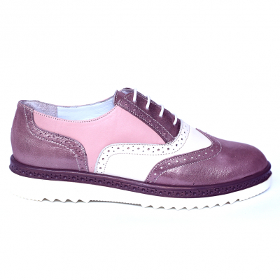 Pantofi dama din piele naturala, CZR, Peter, Roz, 39 EU0
